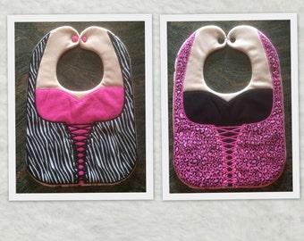 Animal Print Corset Baby Bibs