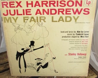 """Vintage """"My Fair Lady"""" Original Broadway Cast Record - feat. Julie Andrews and Rex Harrison"""