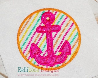 Anchor Applique Design - Applique Embroidery Design - Nautical Applique Design - Nautical Embroidery - Beach Applique - Summer Applique