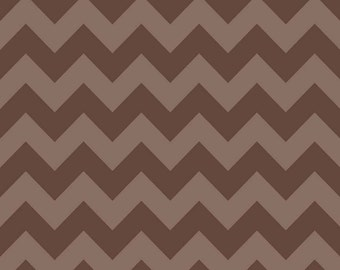 Riley Blake - Small Chevron - Tonal Brown - Cotton Woven Fabric