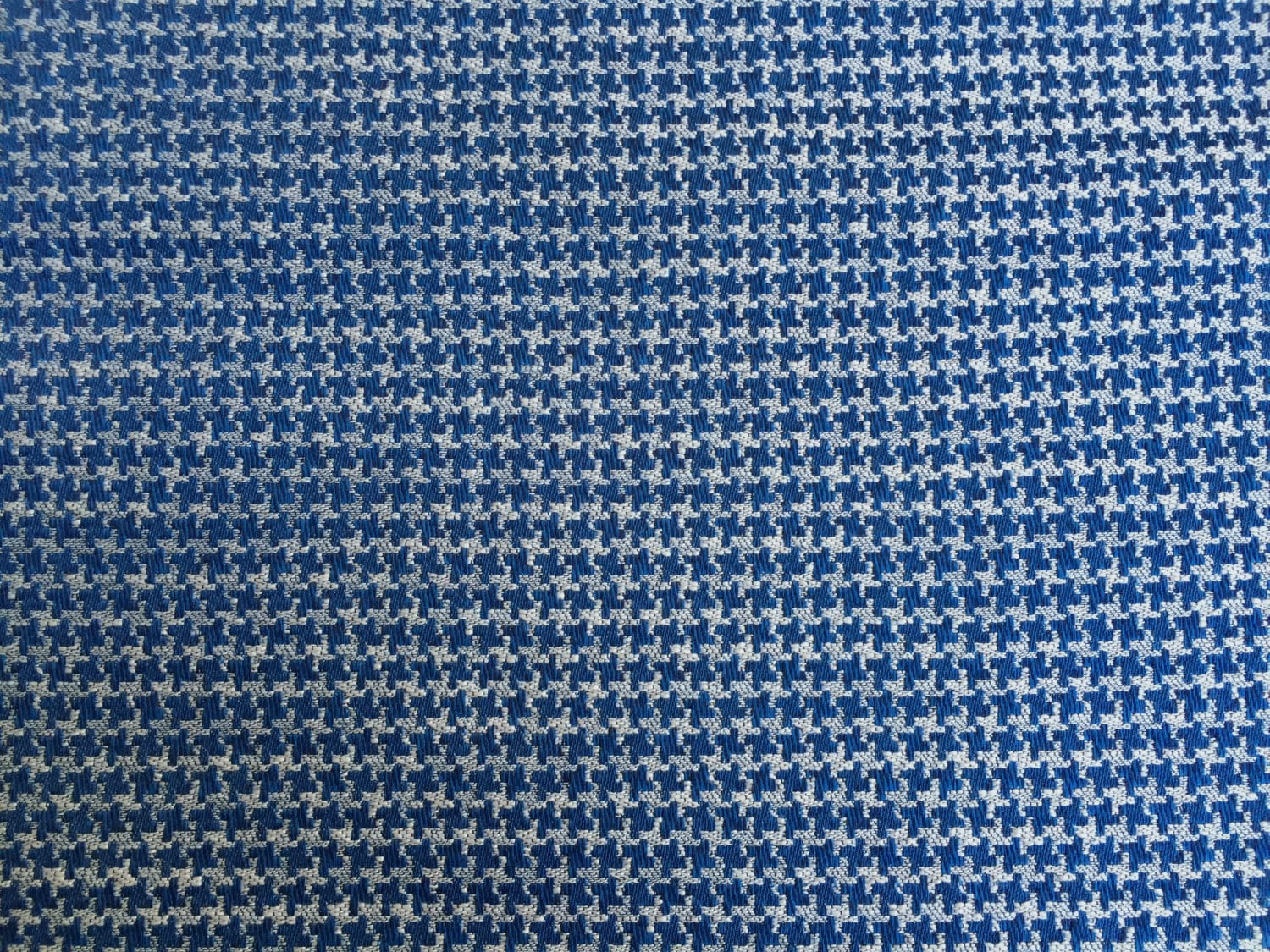 blue and white houndstooth eames upholstery fabric 40 by 59 home decor from menageriemall on. Black Bedroom Furniture Sets. Home Design Ideas