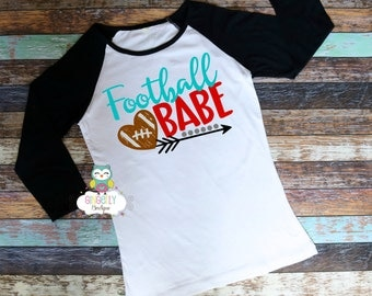 Football Babe Shirt, Football Shirt, Girls Football Shirt, Woman's Football Shirt, Ladies Football,Football Season, Football Fan