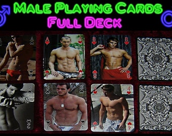 Male ( hot guy ) Playing Cards