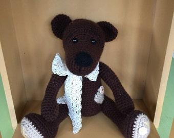 Brown Crochet Bear!