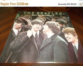 Save 30% Today Vintage 1980 Vinyl LP Record The Beatles Rock N Roll Music Volume 2 Near Mint Condition 3268