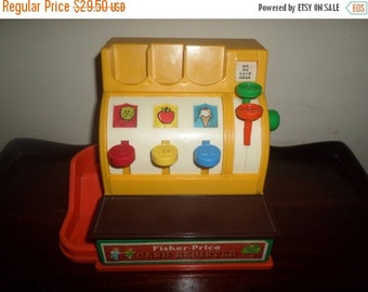 Save 30% Today Vintage 1974 Fisher Price Cash Register No 926 Works Perfect Very Nice Vintage Toy