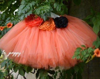Custom couture sewn ballerina short tutu COSTUME HALLOWEEN PUMPKIN