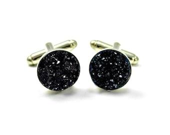 Black Cufflinks, Suit Accessories Formal Wear Mens Accessories Uncle Gift, Black Wedding Cufflinks, Best Man Cufflinks, Minimalist Cufflinks