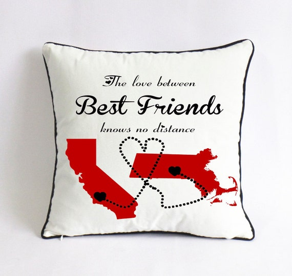 best friend long distance cushion cover graduation by. Black Bedroom Furniture Sets. Home Design Ideas