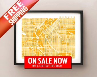 Denver Map Print - On Sale Now