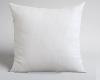 Handmade White Linen Pillow Cover -Decorative Pillow - Throw Pillow Cover - Natural Linen - Cushion Cover