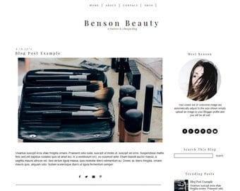 Blogger Template - Simple Blog Template - Modern Blog Design - Black and White - Mobile Responsive