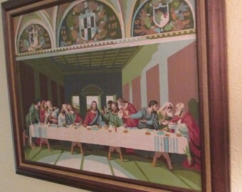 Vintage Paint by Number Last Supper