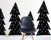 Large Chunky trees - Die Cut Decal - WALL DECAL
