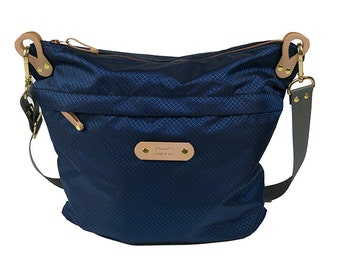 Nylon Shoulder Bag (Navy)