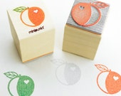 Stamp with peach Hjerte
