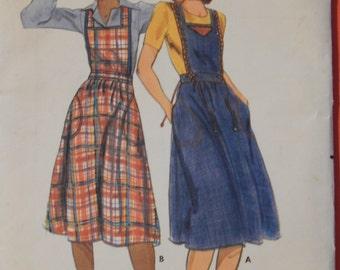 Butterick 5242 Vintage bib jumper pattern Uncut Size 10