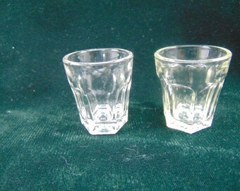 Vintage Glass Shot Glasses
