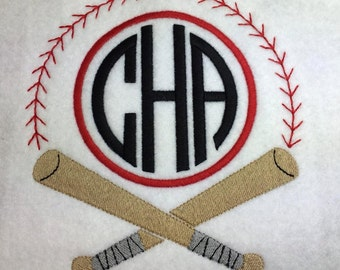 Baseball Monogram Frame ONLY - 10 sizes INCLUDED!! - Embroidery Design -   DIGITAL Embroidery Design