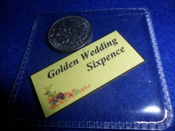 Wedding Gift For 6 Year Old : ... Wedding Present 1967 lucky sixpence 50 years old 50th wedding gift