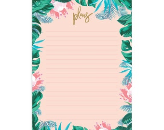Tropical A4 Notepad