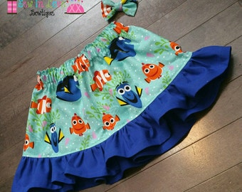 Finding Dory/Nemo Skirt and Mini bow