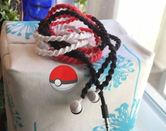 Pokemon GO Pokeball Ball Inspired Gifts for Pokemon Fans Headphones Ear Buds for iPhone iPad iPod Android Smartphone for High School Student
