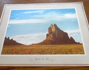 Ship Rock, New Mexico.     1970 Standard oil posters, Famous places, Landmarks,  advertising collection