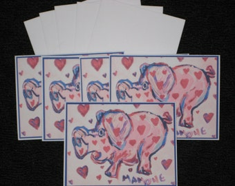 Whimsical Pig Note Cards