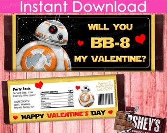 Bb8 valentines card  Etsy
