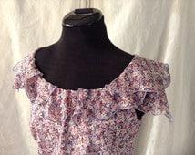 LAURA ASHLEY Petite - Vintage - Floral Tea Dress - Summer - Wedding - Garden Party - Free Postage