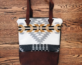 Gold+Gray Tribal Tote