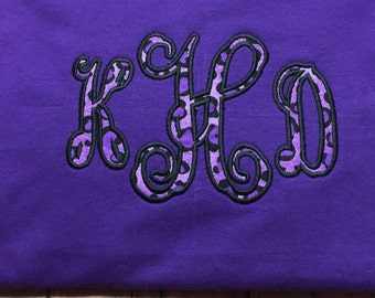 Appliqued, Personalized, Monogrammed TShirt