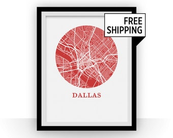 Dallas Map Print - City Map Poster