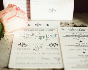 Florence Wedding Invitation Suite *LETTERPRESS*