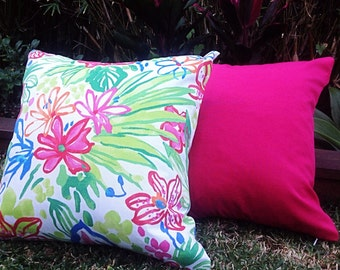 Outdoor Cushions, Tropical Outdoor Cushions, Hibiscus Flower Outdoor Pillows Tropical Pillows Alfresco Cushions Tropical Pillows