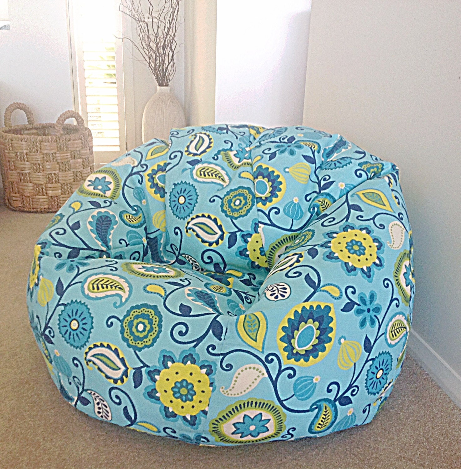 bean bag kids bean bag adults bean bag cover only turquoise. Black Bedroom Furniture Sets. Home Design Ideas