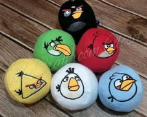 Birds 4 Panel Stuffed Balls