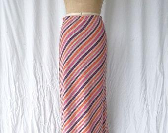 Sonia Rykiel Striped Knit Maxi Skirt