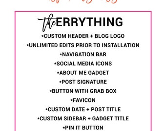The Errything Custom Blog Design