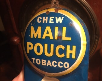 Tin Litho Mail Pouch Thermometer