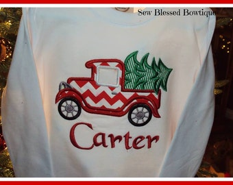 Ole Timely Christmas appliqued design on a child's / boy shirt