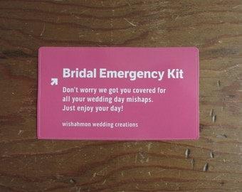 Bridal Emergency Kit - Brides Survival Kit - Bridal Shower Gift - Wedding Day Emergency Kit - Wedding Survival Kit