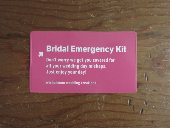 Bridal Emergency Kit - Brides Survival Kit - Bridal Shower Gift - Wedding Day Emergency Kit - Wedding Survival Kit
