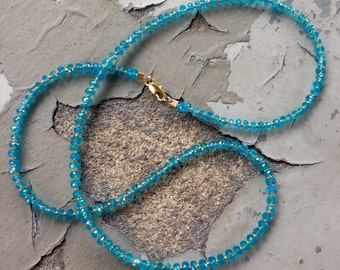 Neon Apatite Gold Necklace