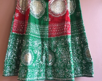 Sequin Indian A line Skirt