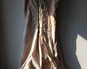 Steam punk, bustle dress, ghost dress, Haloween costume size UK 14-16