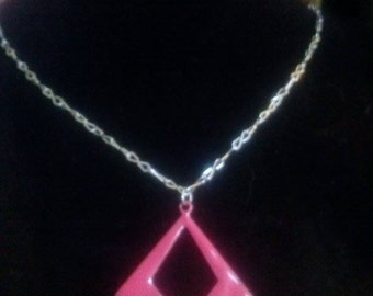 Hot Pink Abstract Pendant