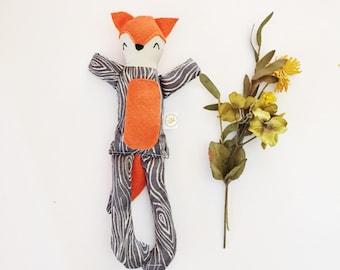Aspen Fox, Addie Dolls, Handmade Plush Doll, Fabric Rag Doll, Child Friendly, Baby Shower Gift, Toddler Gift