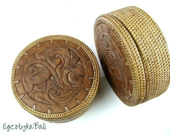 Round Box with Lid Handwoven